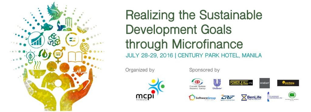 "2016 Annual Conference - Theme: ""Realizing the Sustainable Development Goals through Microfinance"""