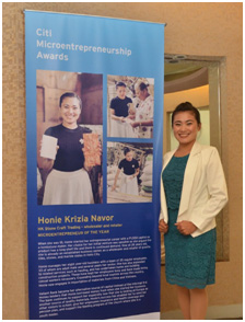 2016 Citi Microentrepreneurship Awards National Awardee Honie Krizia Navor